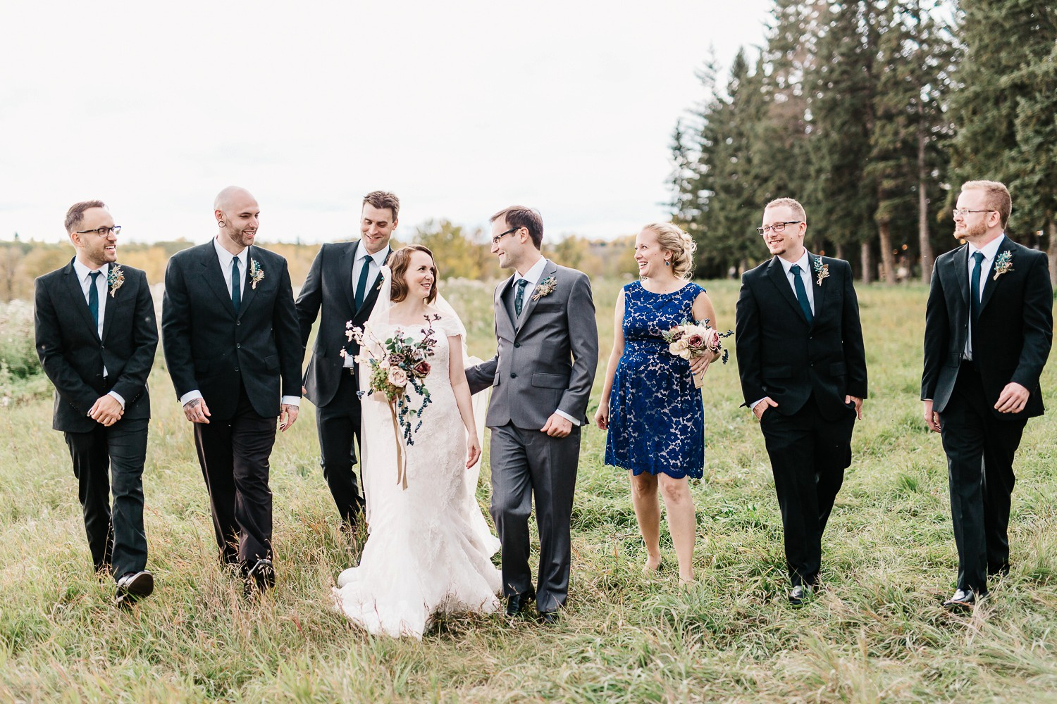 wedding party portraits in calgary