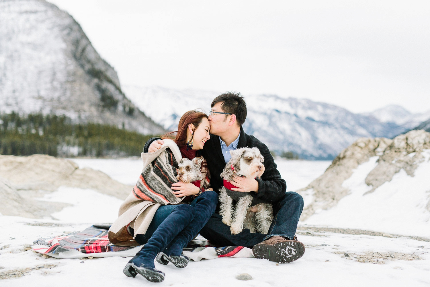 engagement session with dogs - Calgary Wedding Photographer_4316