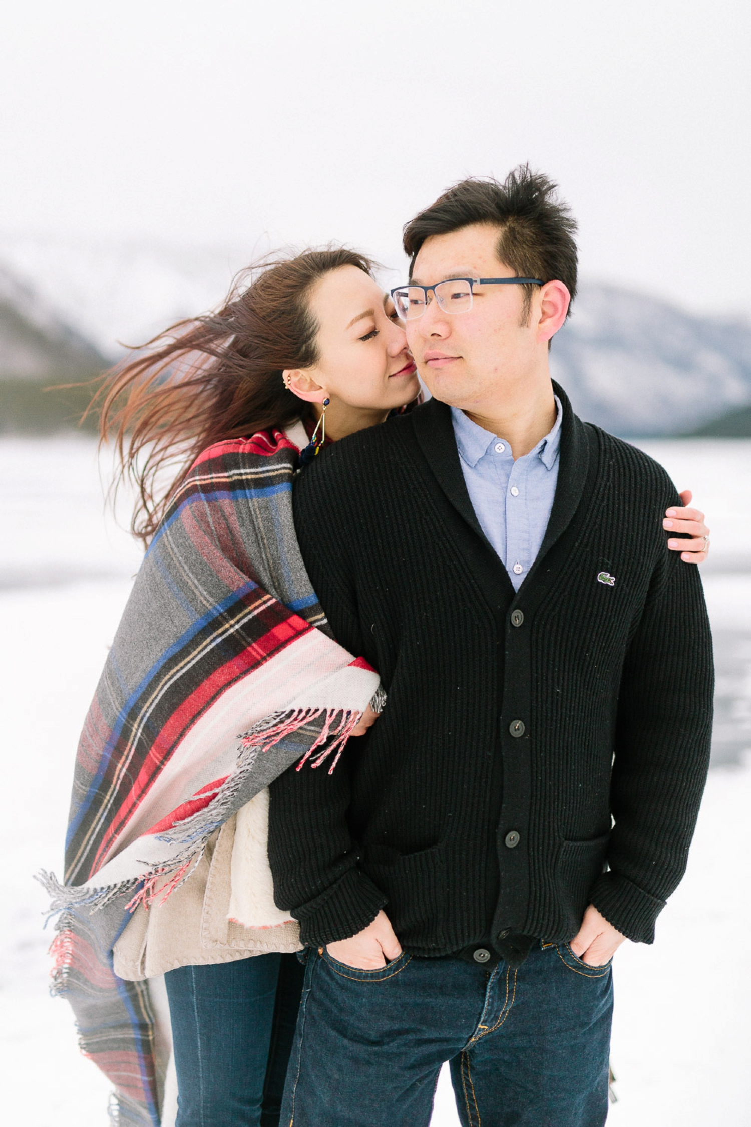 winter engagement session in banff - Calgary Wedding Photographer_4331