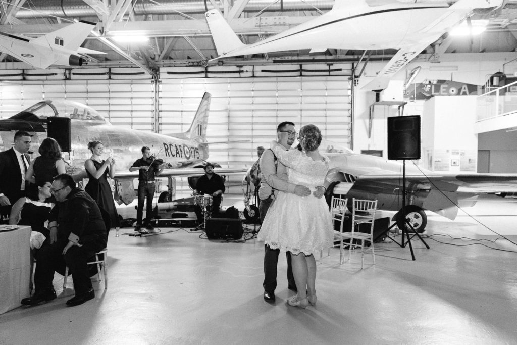 the hangar flight museum wedding - Calgary Wedding Photographer_4454