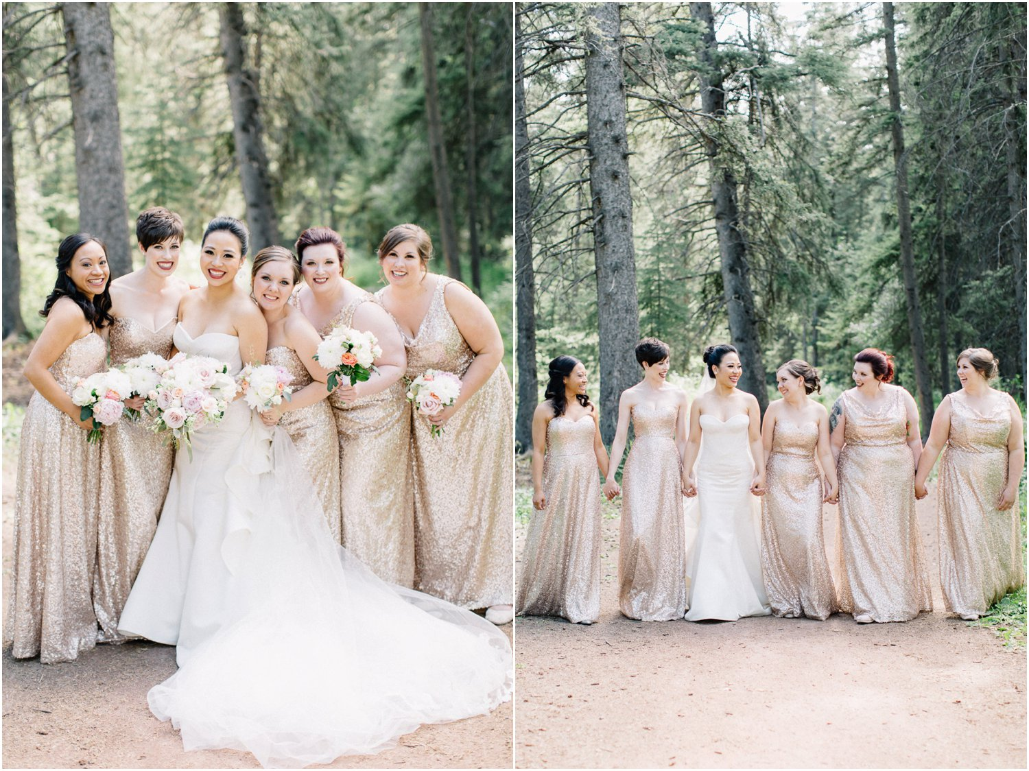 Gold bridesmaids dresses - Calgary Wedding Photographer_4836