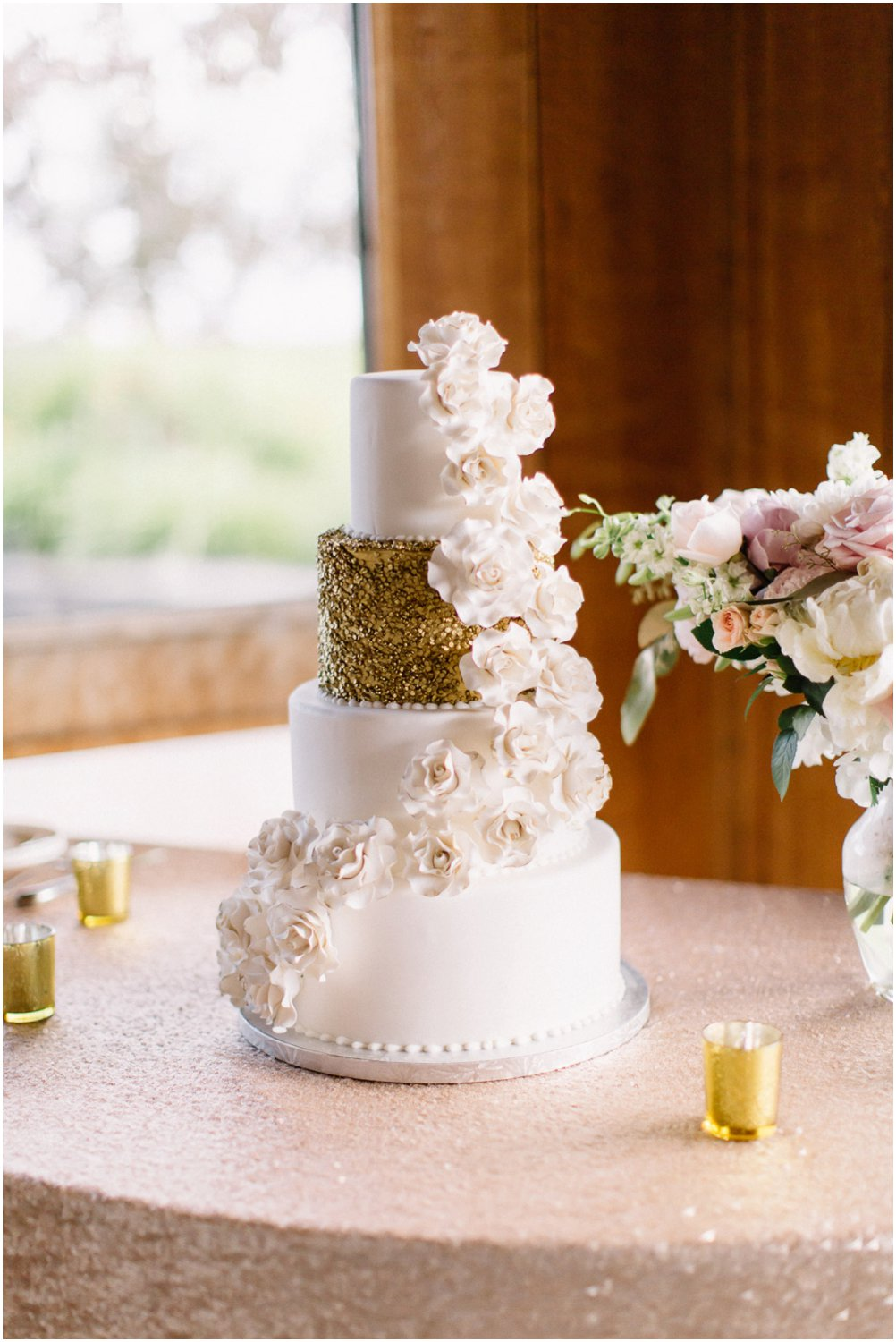 Floral wedding cake - Calgary Wedding Photographer_4854