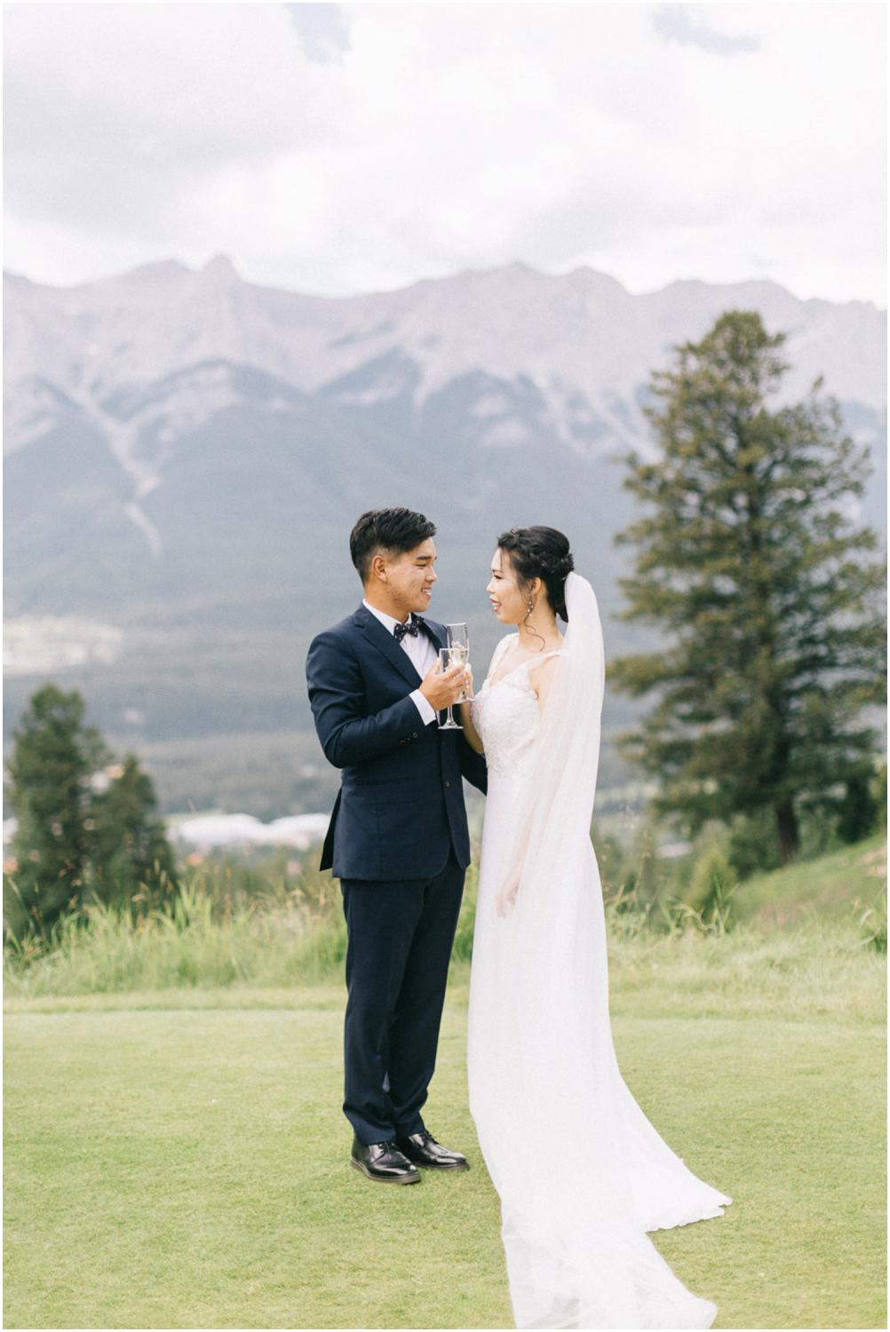 canmore wedding photographers silvertip wedding canmore