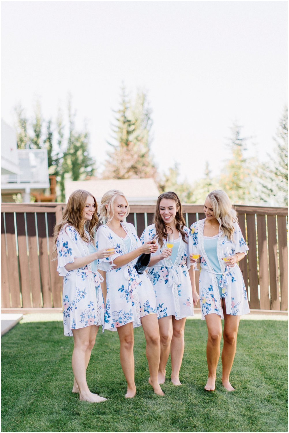 bridesmaids toasting - Calgary Wedding Photographer_4961