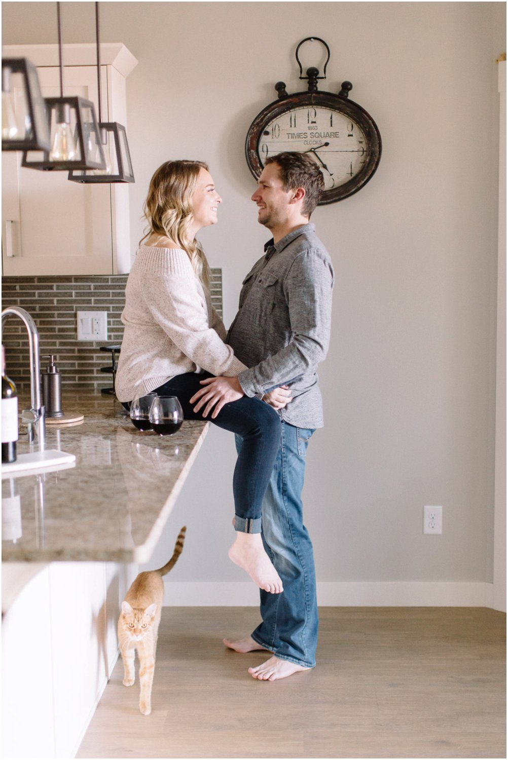 In home engagement session - Calgary Wedding Photographer_5086
