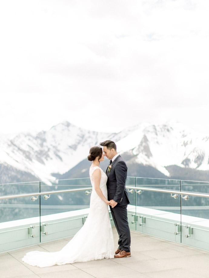 Wedding at the Sky Bistro Banff Gondola - Banff Wedding Photographer