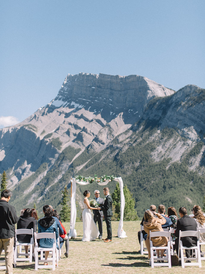 Tunnel mountain reservoir wedding - banff elopement photographers