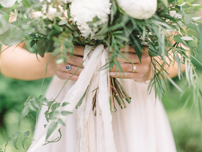 calgary wedding florist - green and white bouquet