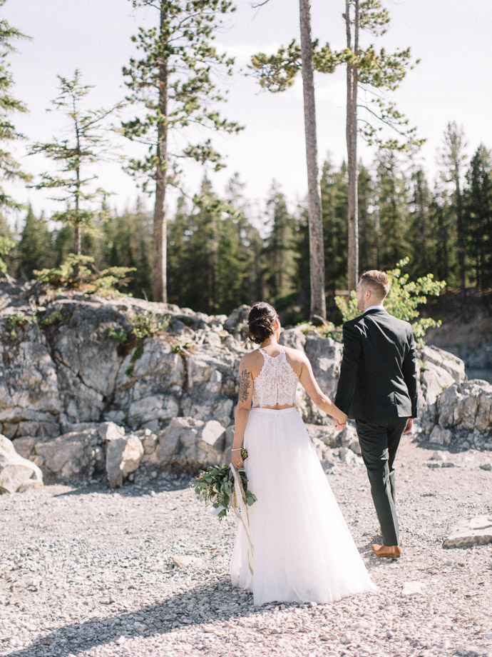 lake minnewanka elopment - banff elopement photographers