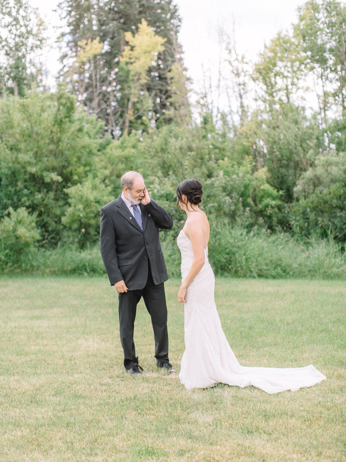 first look with dad - Calgary Wedding Photographers-30
